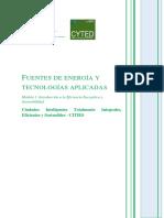 Tema 1. Fuentes de Energia y Tecnologias Aplicadas