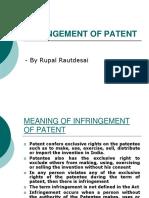 6. Infringment of Patent