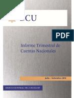 Informe de Cuentas Nacionales - PIB - BCU