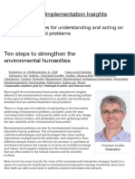 Christopher Kueffer Ten Steps to Strengthen the Environmental Humanities