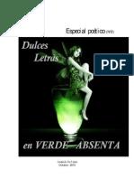 Dulces Letras en verde Absenta  - DOS -
