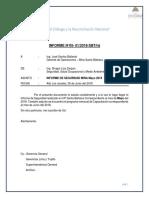 Informe mensual de Seguridad Mayo 2018
