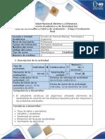 Guia de Actividades y Rubrica de Evaluación - Etapa 5 Evaluación Final