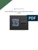 Adafruit Hmc5883l Breakout Triple Axis Magnetometer Compass Sensor