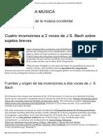 Cuatro invenciones a 2 voces de J.S. Bach sobre sujetos breves - HISTORIA DE LA MÚSICA.pdf