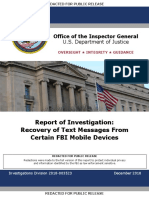 IG Report - Page Strzok Messages and Phone Data Loss