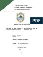 Informe de Tesis II 2018 II