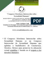 Presentación del VII Congreso Nacional de Educación Sexual y Sexología