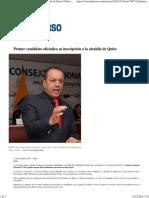 Candidatos a La Alcaldia de Quito
