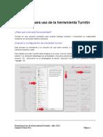 Manual para uso de la herramienta Turnitin