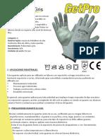 Ficha Proveedor Guante Getpro Pu Gris Corte 5 110915