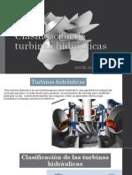 Clasificación de Turbinas Hidráulicas