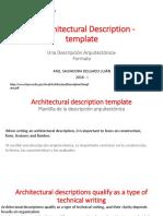 11 Inglés Técnico an Architectural Description - Template