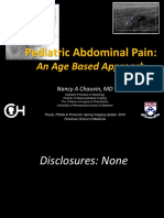 Abdominal Pain an Age Based Approach