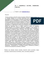 Factores Culturales y Desarrollo Cultural Comunitario