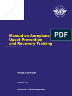 Manual on Aeroplane Upset Preventoin and Recovery Training