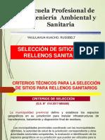 SELECCIÓN DE SITIOS PARA RELLENOS SANITARIOS.ppt