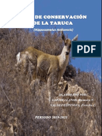 Plan de Conservación de La Taruca