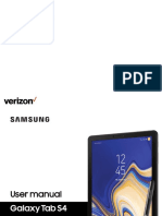 Samsung Galaxy Tab s4 MANUAL