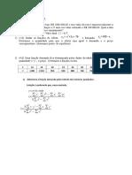 Matemática - Exercícios