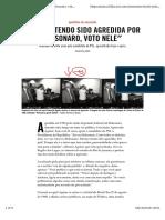Noticia - Agredida Por Bolsonaro Vota Nele