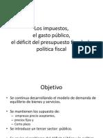 Los Impuestos, Gasto Publico