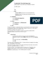 Factor Analysis - SPSS