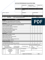 Cookery Practicum Performance Evaluation Form
