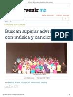 El Porvenir - Buscan superar adversidad con música y canciones