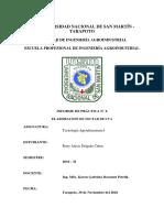 Informe 8 Nectar de Uva