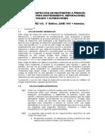 API 510 Codigo de Inspeccion de Recipientes a Presion (Español)