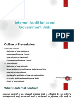 Internal Audit for LGUs