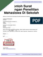 Download Contoh Surat Keterangan Penelitian Mahasiswa Di Sekolah Kepalasekolah.org