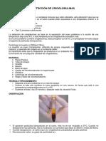Detección de Crioglobulinas