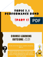 Topic 2 Performance Bond