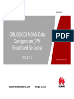 4 MSAN UA5000 Data Configuration IPM Broadband Services