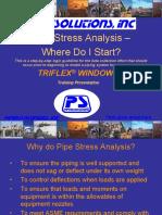 Pipe Stress Analysis - Why & Where Do I Start