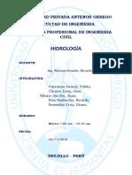 ESTUDIO HIDROLÓGICO RESUMEN