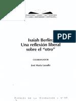 (Varios) Isaiah Berlin. Una feflexión liberal sobre el otro.pdf