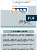 Stock Management of BIGBAZAR