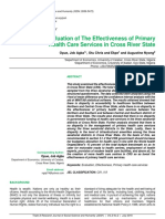 Opue Et Al Effectiveness of Primary Health Care