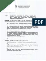 Memorandum Order No. 004