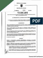 Decreto 2289 de 2018