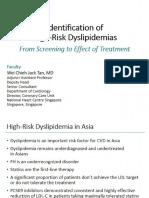 Identification of High Risk Dyslipidemia
