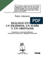 Pedro Abelardo - Dialogo Entre Un Filósofo, Un Judío y Un Cristiano