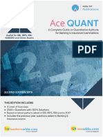 Bank Ace Quantitative Aptitude Book Index