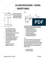 Steel Design Review Handout
