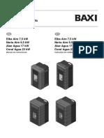 Manual Instruções Pellets Baxi - ES e PT v3 - Com Capas
