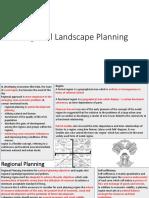 Regional Landscape Planning