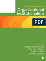 Organizational Institutionalism